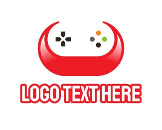 Nintendo - Game Controller Horns logo design