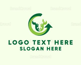 Cattle - Arrow & Bull logo design