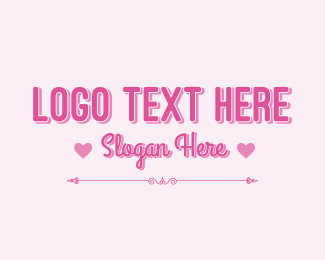 """Cute Pink Valentine Wordmark"" by brandcrowd"