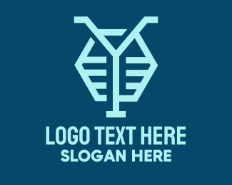 General - Blue Letter Y Hexagon logo design