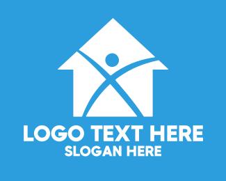 Renovation - Home Builder X logo design