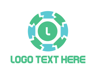 Thorn - Block Circle logo design