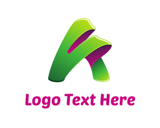 Green And Pink - Green Letter A logo design