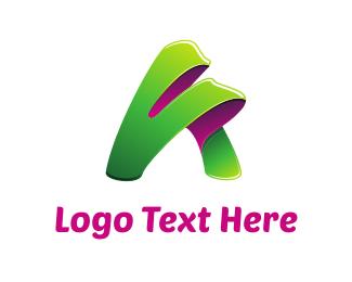 Cape - Green Letter A logo design