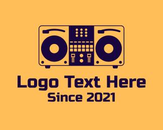 Dj - DJ Set Equipment logo design
