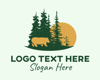 Animal Sanctuary - Forest Bear  logo design