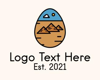 Ancient - Ancient Pyramid Egg  logo design