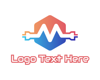 Wire - Wire M Plug logo design