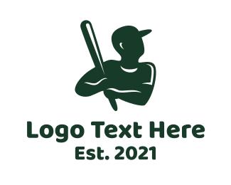 Player - Baseball Player logo design