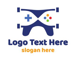 Drone - Blue Drone Gaming logo design