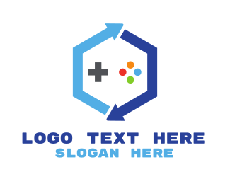Gaming - Blue Hexagon Gaming logo design