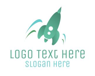 Incubator - Green Rocket Launch logo design