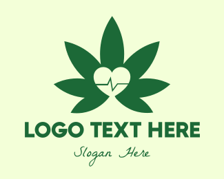 Medical Drug - Green Healthy Weed logo design