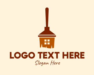 Sweeper - House Broomstick logo design