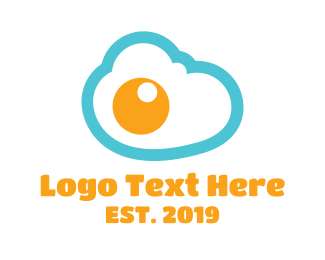 Fried Egg - Egg Cloud  logo design
