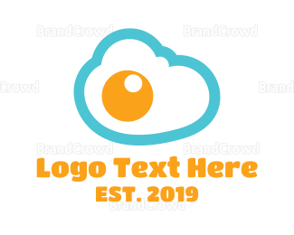 Cloud Drive - Egg Cloud  logo design
