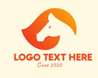 Horse Head - Modern Horse Race logo design