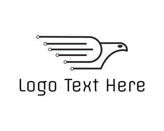 Hawk - Tech Black Pigeon  logo design