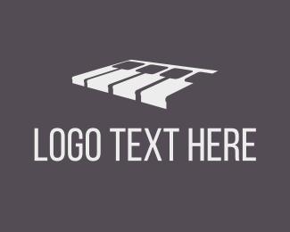 Pianist - White Piano logo design