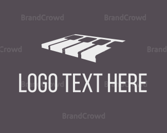 Piano Keys - White Piano logo design