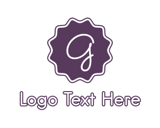 Stamp - Purple G Stamp logo design