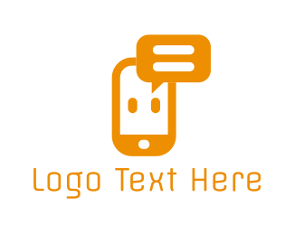 Language - Phone Chat logo design