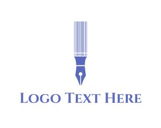 Writing - Pen Code logo design