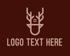 Real Estate - Deer House Property logo design