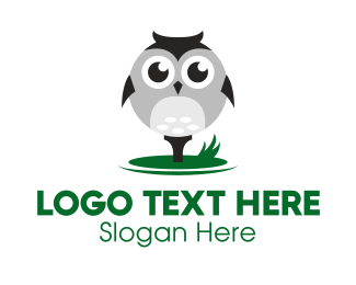 Mini Golf - Owl Golf Ball logo design