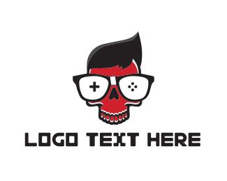 Glasses - Gamer Skull logo design