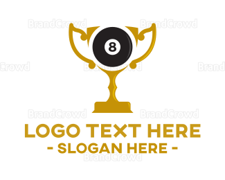 Eight - Eight Billiard Ball Trophy logo design