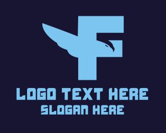 Initial - Eagle Letter F logo design