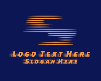 Racing - Orange Speedy Letter S  logo design