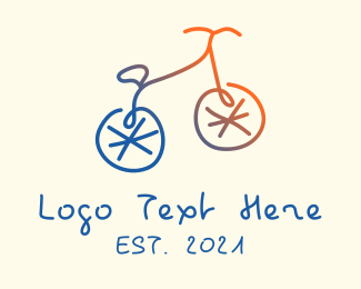 Ride - Abstract Bicycle Bike logo design
