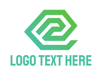 Contractor - Industrial Letter E logo design