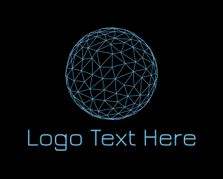 Constellation - Blue Globe Wire Frame Company logo design