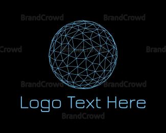 Globe - Blue Globe Wire Frame Company logo design