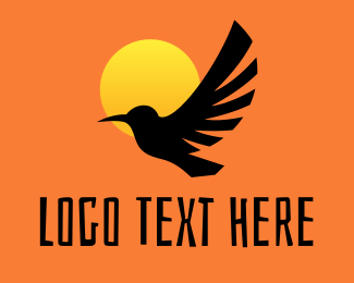 Guide - Bird Sunset Silhouette logo design