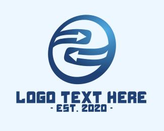 Mart - Blue Circle Cycle Arrow Direction logo design