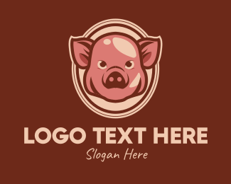Bacon - Vintage Pig logo design