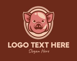 Pork - Vintage Pig logo design