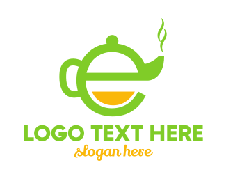 Teapot - Teapot Letter E logo design