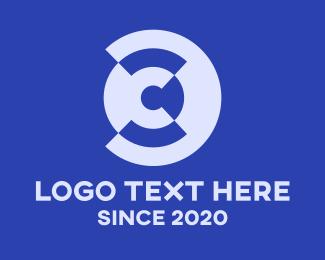 Copyright - Blue Copyright Letter C logo design