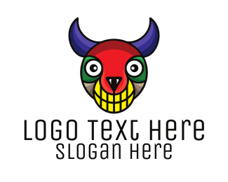 Demonic - Colorful Monster logo design