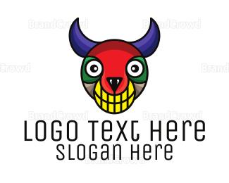 Costume - Colorful Monster logo design