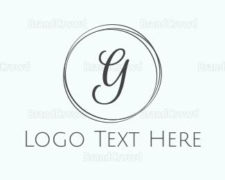 Fortune - Minimalist Chic G Circle logo design