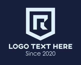 Business - Gray Shield Letter R logo design