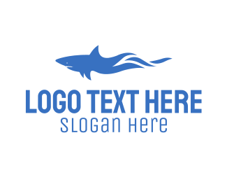 Aqua - Wild Shark logo design