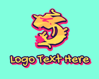 Five - Graffiti Art Number 5 logo design