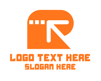 Left - Arrow Letter R logo design